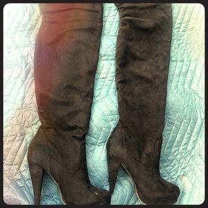 Thigh High Stiletto Heals